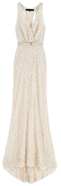 Sparkling wedding dress.