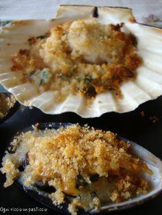 Cozze e capesante gratinate - mussels and scallops au gratin