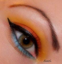 eye make-up with NYC eyeshadows