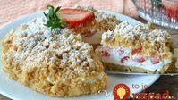 Tento koláčik pobláznil internet: Strúhaný jahodový koláč bez pečenia, lepší ako zmrzlina!