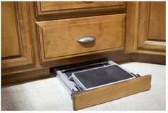 A hidden step stool is a must-have kitchen design feature  #NuwayInspirations
