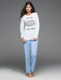 Pijama largo polar de Pusheen, Women'secret