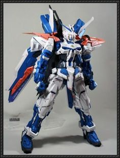 MBF-P02 Gundam Astray Blue Frame Free Paper Model Download