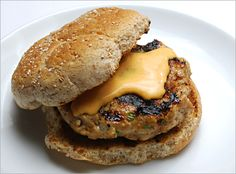 Weeknight quick to make, turkey burgers get a flavor boost from hoisin sauce, green onions, ginger, garlic, soy sauce and a topping of Sriracha mayonnaise