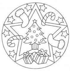 Several free Christmas themed mandalas on this website: http://www.preschoolactivities.us/christmas-mandala-coloring-page-for-kids/