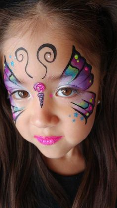 - # Make-up # Make-up - Face Painting Tutorials, Face Painting Designs, Face Painting Unicorn, Body Painting, Butterfly Face Paint, Face Paint Makeup, Unicorn Halloween, Picasso Art, Creative Makeup Looks