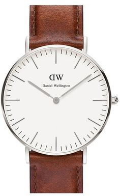 Daniel Wellington 'Classic St. Mawes' Leather Strap Watch, 36mm