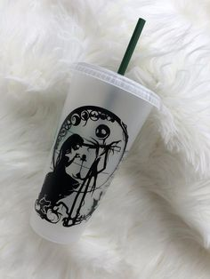 Nightmare Before Christmas *Starbucks Cold Cups Nightmare Before Christmas *Starbucks Cold Cups* Disney * jack & sally • personalized Starbucks Cup Art, Disney Starbucks, Custom Starbucks Cup, Starbucks Tumbler, Starbucks Halloween Cups, Starbucks Drinks, Personalized Starbucks Cup, Personalized Cups, Coffee Cup Art