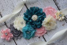 Flores marco teal marfil blush rosa marco gris flor correa