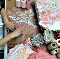 More places to shop for bra making supplies in new york city orange lingerie Couture Embroidery, Couture Sewing, Beaded Embroidery, Hand Embroidery, Embroidery Designs, Techniques Couture, Sewing Techniques, Couture Details, Fashion Details