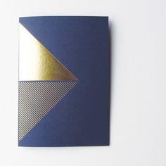 Gold Foil and Navy Pocket Notebook