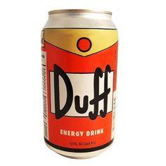 Duff Can Energy Drink The Simpsons Beer Homer Simpson Moe s Tavern New