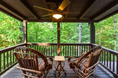 Ellijay cabin rental - Get away from the kids on the master private deck. Beautiful view of mtns!
