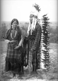 JOSEPH (Self-to)  his wife, COL-LA, Salish, Flathead Indian Reservation, MT (c.1900-1910)