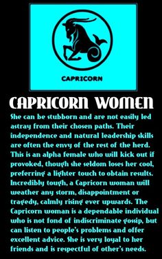 Careers for capricorn woman