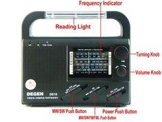 Solar Portable Radio Recorder FM FML MW SW Crank