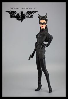 Catwoman costume I made for Jamieshow Sasha, inspired by The Dark Knight rises Catwoman! Dark Knight Rises Catwoman, The Dark Knight Rises, Crazy Cat Lady, Crazy Cats, Fashion Dolls, The Darkest, Batman, Costumes, Superhero
