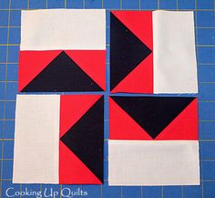 Tutorial Modern Pinwheel Block