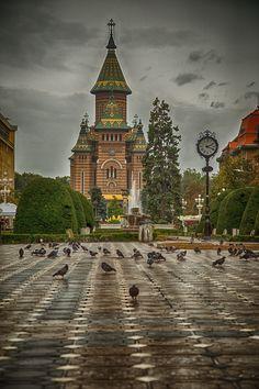 Timișoara, Timișoara, Romania - Rainy town, but very colorful