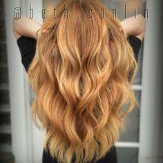 Strawberry blonde balayage- Beth Conlin Hair @beth_conlin