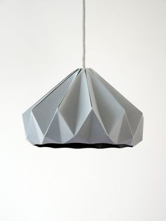 Chestnut paper origami lampshade grey.