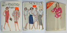 Vintage Patterns Set of 3 Business Casual by KrisVintageClothing, $8.00