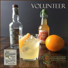 The Volunteer — a white whiskey and spiced orange syrup cocktail from Nelson's Green Brier Distillery (Nashville, TN)
