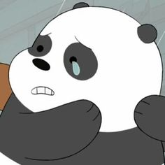 Triste We Bare Bears Wallpapers, Panda Wallpapers, Cute Cartoon Wallpapers, Bear Cartoon, Cartoon Memes, Cartoon Pics, Cartoons, Cute Panda Wallpaper, Bear Wallpaper