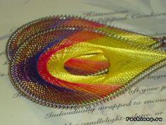 Сережки в технике ганутель / сережки из проволоки