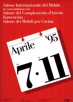 In the beginning, there was Italy. When a handful of furniture manufacturers formed Cosmit in Salone Internazionale del Mobile was conceived to promote homegrown talent. - Jordan Kushins's Salone Posters design collection on Dwell. Graphic Design Typography, Graphic Design Art, Book Design, Massimo Vignelli, Identity Art, Band Logos, Visual Communication, Timeless Design, Packaging Design