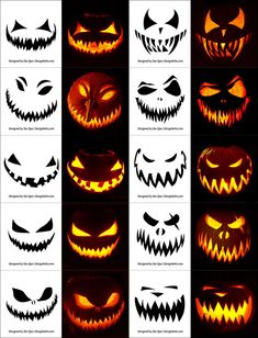 Pin for Later: scary halloween decorations. Free Halloween Pumpkin Templates, Vectors, PSD, Icons & Party Posters for Scary Pumpkin Carving Patterns, Halloween Pumpkin Carving Stencils, Scary Halloween Pumpkins, Easy Pumpkin Carving, Pumpkin Carving Templates, Carving Pumpkins, Pumpkin Templates Free Printable, Scary Pumpkin Faces, Halloween Pumkin Ideas