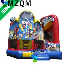 MZQ 6mL*6mW commercial grade kids/adults inflatable castle combo, princess bouncy bounce jumping castle