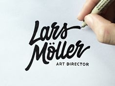 Very raw sketch of the approved logotype for Lars Möller, a german based art director.