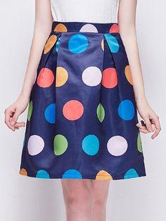 Charming Colorful Polka Dot Midi-skirts | fashionmia.com