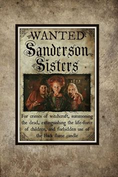 4ce19586 Large Sanderson Sisters Print Inspired by Hocus Pocus