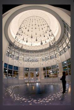 """Ann Gardner's """"Ring of Water"""" Corning Museum Of Glass, Water Slides, Mosaic Art, Sculpture Art, My House, Louvre, Explore, Artist, Ann"""