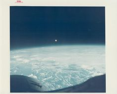 Full moon seen over Earth from Gemini 7, December 1965. | 39 Jaw-Dropping Vintage Nasa Photographs