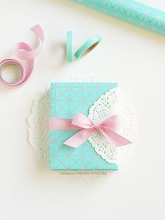 Pastels and lace make for beautiful gift wrapping!