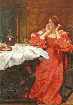 "Edward Robert Hughes (1832-1908), ""The Shrew Katherina"", 1896 by sofi01, via Flickr"