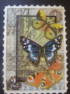 Stamp+of+Beautiful+Butterflies | Butterfly Postage Stamps ATCs
