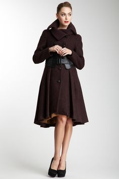 Mackage Doreen Belted Coat in Merlot