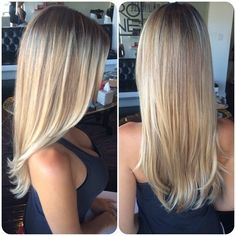 Blonde balayage highlights Más