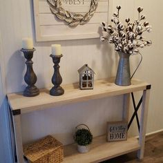 Arsenault Urban 46 Console Table Foyer and Entryway Ideas Arsenault Console table urban Farmhouse Decor, Rustic House, Room Decor, Decor, Foyer Decorating, Entryway Decor, Farm House Living Room, Rustic Decor, Home Decor
