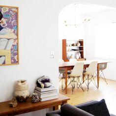 Interior Decor Interior Design, Interior Decorating, Dining Room Design, Dining Rooms, Modern House Design, Home Design, Mid Century Furniture, Apartment Living, Brick