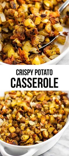 This famous crispy potato casserole is SO GOOD! Perfectly crispy potatoes slow r… This famous crispy potato casserole is SO GOOD! Perfectly crispy potatoes slow roasted to perfection. One of the best vegan potato recipes! Healthy Potato Recipes, Whole Food Recipes, Cooking Recipes, Vegan Recipes With Potatoes, Healthy Potatoes, Cooking Pork, Healthy Vegan Dessert, Vegan Breakfast Recipes, Best Vegan Recipes Dinner