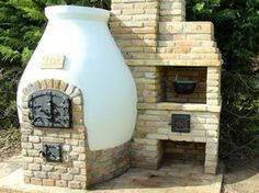 Kemax - Kecskeméti búboskemence grillezővel Outdoor Oven, Outdoor Cooking, Outside Living, Outdoor Living Areas, Backyard Kitchen, Backyard Patio, Smokehouse Bbq, Outside Fireplace, Barbecue Pit