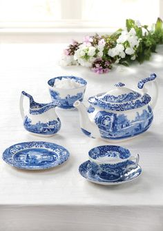 The classic afternoon tea essentials #BlueItalian #Spode