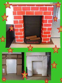 Le p re no l passera par la chemin e en carton tuto noel pinterest bricolage - Acheter une cheminee en carton ...