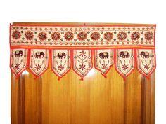 Indian embroidered toran door valances Mirror Work Vintage Window Home DecorVT | eBay