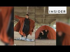 An Inventive Jacket That Converts Into a Tent to Provide Temporary Shelter for Refugees in Crisis